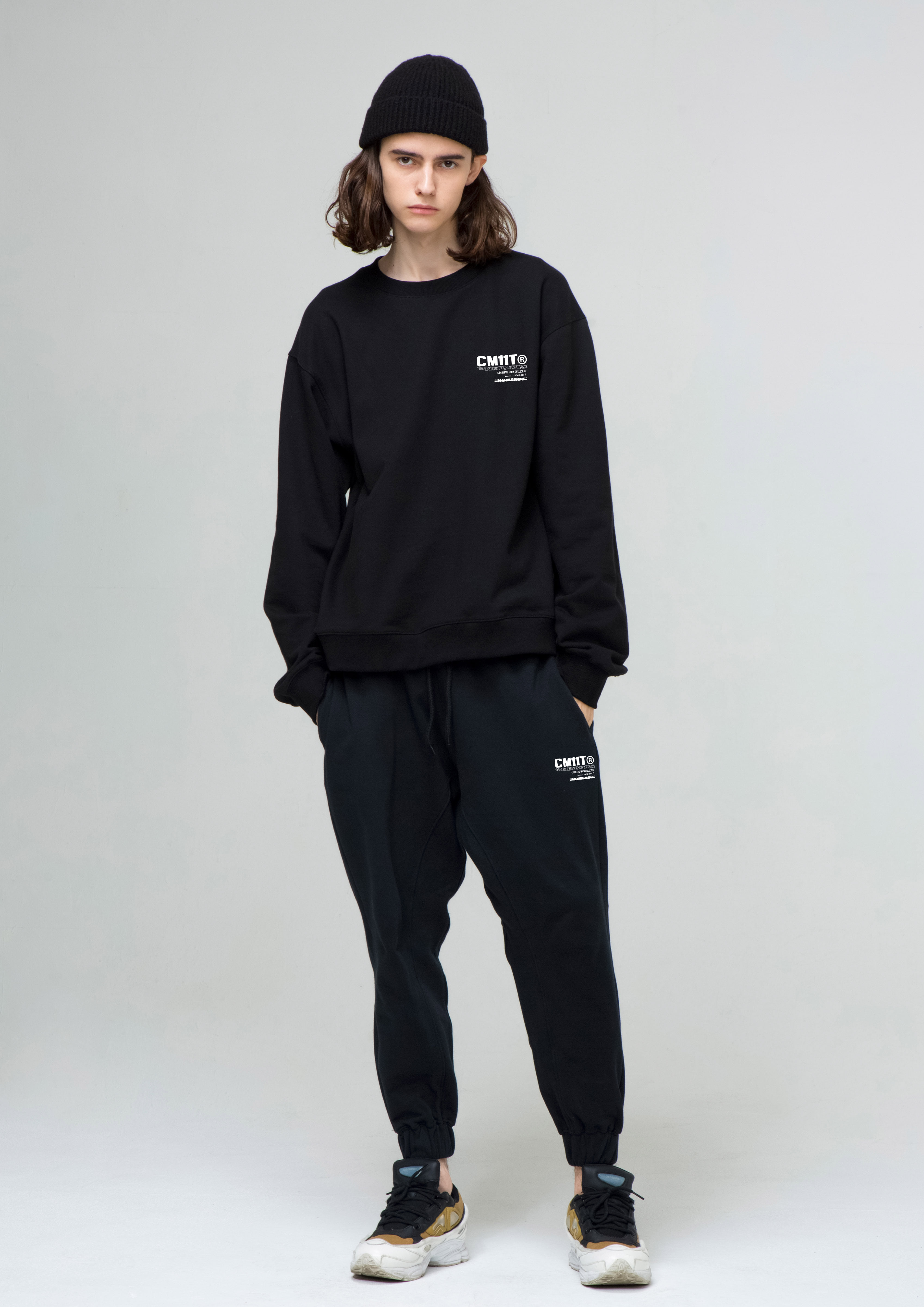 "[Black WED50%!!]""NOMERCY"" Jogger Pants (BLACK)"